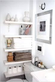 Small Bathroom Storage Cabinet Triple White Wooden Frame Wall