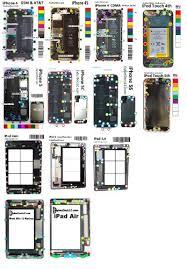 Iphone Screw Chart Magnetic Screw Chart Mat Repair Tool For Iphone Ipad