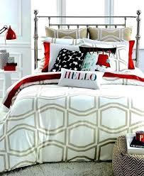 kate spade king comforter bow tile new tan white full queen set york