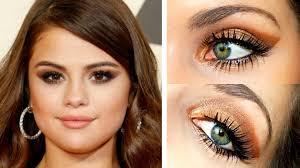 selena gomez 2016 grammy awards makeup tutorial easy dark smokey eye you