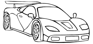 Drag Car Coloring Pages