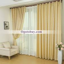 gold high quality linen jacquard custom bedroom curtains loading zoom