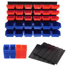 30 x plastic bins wall mounted storage
