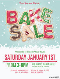 Bake Sale Flyer Templates Free Christmas Holiday Bake Sale Flyer Template With Hand Drawn