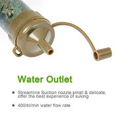 water purifier straw. Perfect Water Personal Water Filter Ultra Lightweight Portable Purifier Straw  For L