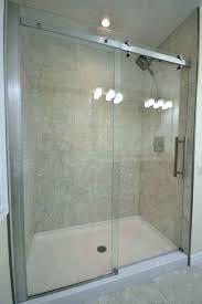 installing a shower door on a fiberglass shower installing fiberglass shower panels bathroom with sliding glass