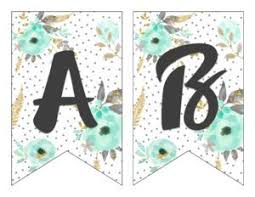 Letter For Banner Free Printable Alphabet Banner Mint Gold Six Clever Sisters
