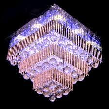 big size square chandelier led ceiling light al jhoomar