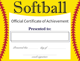 Softball Certificates For Your Volleyball Team Digital Download Receive Immediately After Purchase