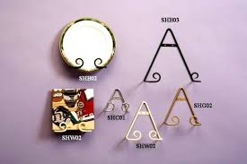 wrought iron scroll plate hangers