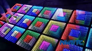 Light Up Floor Mat Wedding Night Club Bar Stage Panel Tile Portable Mat Light Up Mirrored 3d Led Dance Floor