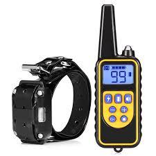 <b>Waterproof</b> Electric Training Collar Black EU Plug Dog Training ...