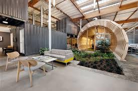 creative office interior design. Cozy Contemporary Office Space With Indoor Green: Creative Interior Design Garden Modern Chair