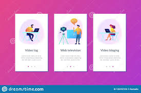 Vlog App Interface Template Stock Vector Illustration Of