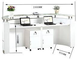 office small hair salon modern white half round reception desk throughout designs for desks