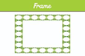 Green Border Frame Ornament