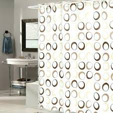 brown and white shower curtain ez on brown circles fabric shower curtain with built in brown and white shower curtain