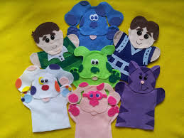 Blues clues green puppy plush Noggin Blues And The Gang Puppets Bonanza Blues Clues Puppetsblue Magenta Steve And 50 Similar Items