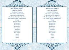 program template for wedding free printable wedding program templates word vastuuonminun