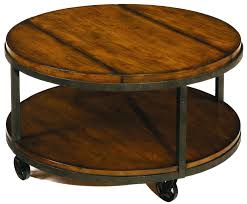 round cocktail table with shelf and wheels hammary nesting coffee