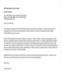 Cover Letter Sample For Hr Position Mesmerizing Human Resources Generalist Cover Letter Sample Bino48terrainsco