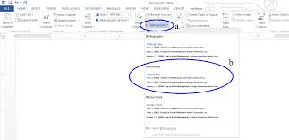 Creating A Reference List And In Text Citations In Microsoft Word