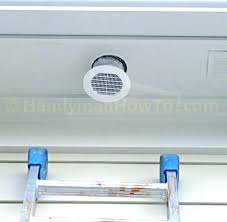 bathroom exhaust fan soffit vent cover outside how to a