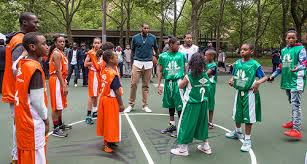 carmelo anthony house basketball court. Simple Carmelo Carmelo Anthony Foundation Basketball Court Dedication At NYCHAu0027s James  Monroe Houses In The Bronx Throughout House