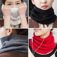 Online Shop Sparsil <b>Women</b> Cashmere Knit Ring Scarves 42cm ...