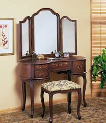 antique makeup vanity set. beautiful antique vanity table with mirror and bench vintage skirt makeup set