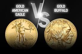 Gold American Eagle Vs American Buffalo Coin U S Money