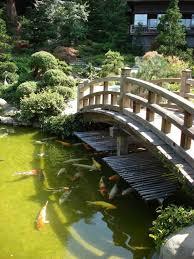 Lawn & Garden:Amazing Large Koi Pond With Bridge In Japanese Garden Design  Ideas Amazing
