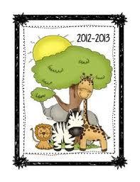 Free Zebra Jungle Teacher Binder Cover Dividers School