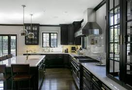 Modern Contemporary Kitchen Modern Contemporary Kitchen Design Stainlees Sin Black Wooden