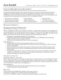 Hospitality Resume Objective Examples Career For Industry