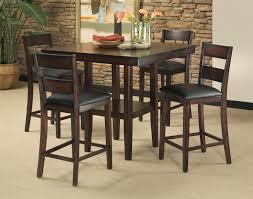 Contemporary Pub Table Set Standard Furniture Pendwood 5 Piece Contemporary Pub Height Table