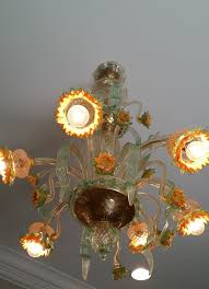 after picture of cleaned murano glass chandelier