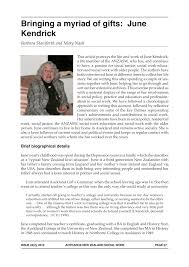 PDF) Bringing a myriad of gifts: June Kendrick
