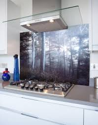 fairy tale forest printed glass hob splashback
