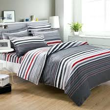 grey and white striped bedding red black gray designs regarding decor stripe single