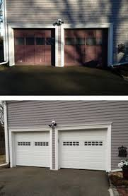 aker garage doorBefore and after pictures of a North Central Door installed by