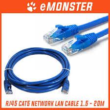 RJ45 1.5m 3m <b>5m 10m 15m</b> 20m <b>Meter</b> CAT5 Network Lan Cable ...