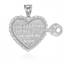 two piece key of my heart detachable necklace in sterling silver