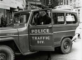 historic albany police traffic jeep on broadway and state street undated in albany