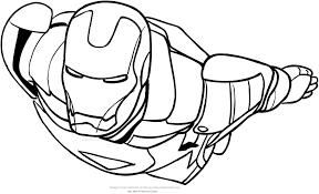 Disegno Di Iron Man In Volo Da Colorare