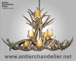 real antler mule deer dining pool table oval chandelier mdinvob 6