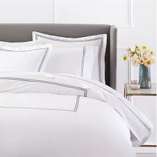 com pinzon 400 thread count egyptian cotton sateen hotel stitch duvet cover king silver grey home kitchen