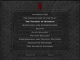 shakespeare macbeth on cd rom the material on the cd rom is arranged in ten sections the page numbering starts 1 in each section and covers the whole section whether it is
