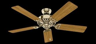 hunter brass ceiling fans. Plain Fans Hunter 53066 The Studio Series 52 Inch Bright Brass Ceiling Fan With  5 WalnutMedium  Throughout Fans B