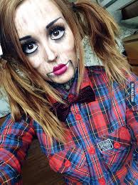 my attempt at ventriloquist doll makeup